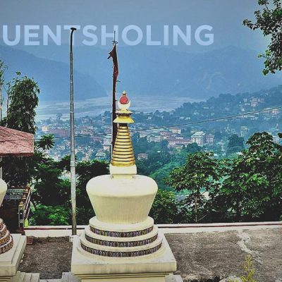 The city of Phuentsholing, Bhutan from the hilltop