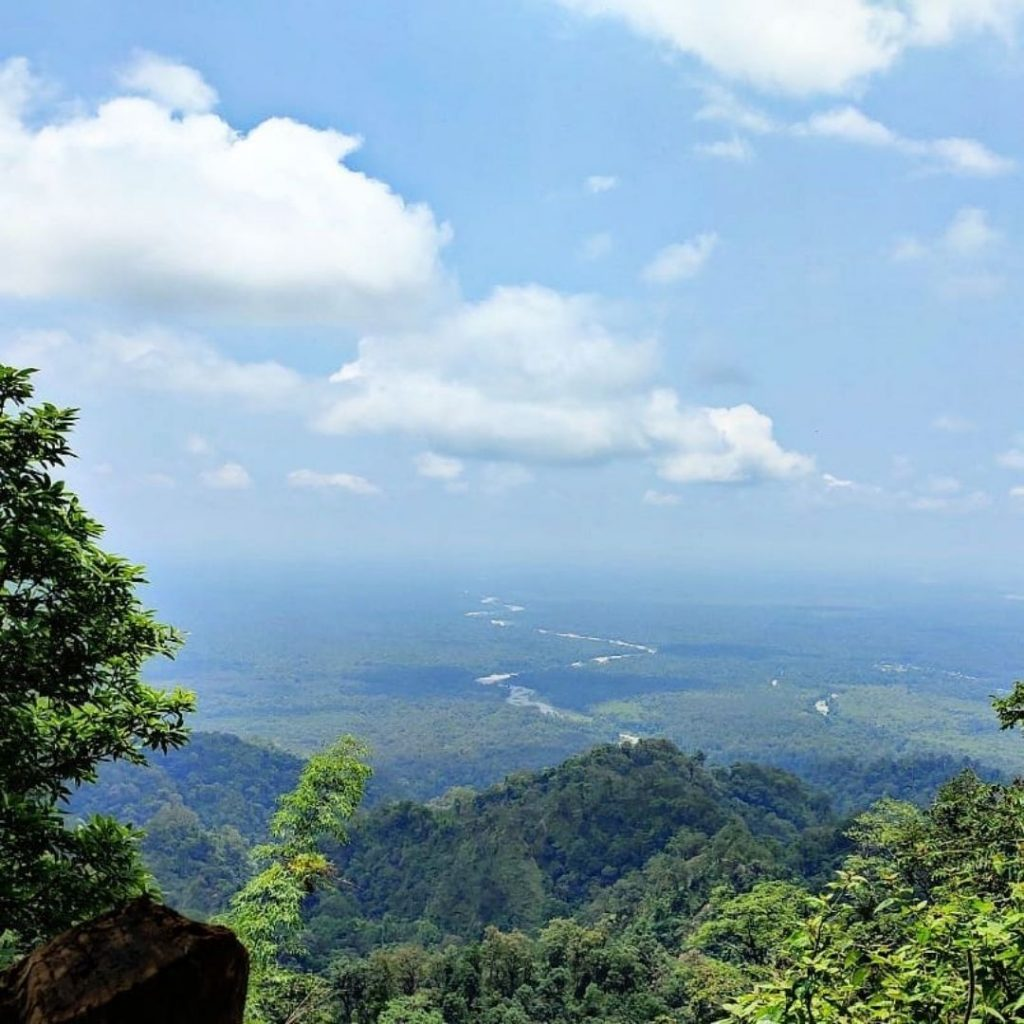 View of Buxa tiger reserve from Lepchakha