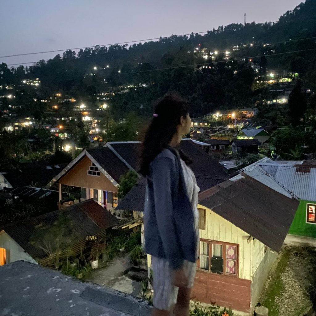 The view of Rongo village at night