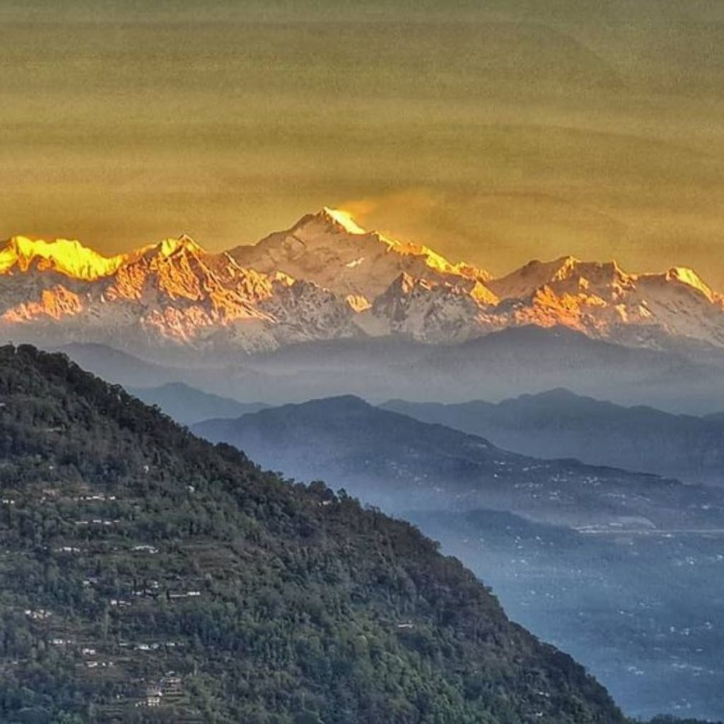 The view of Kangchenjunga from Neora Valley national park