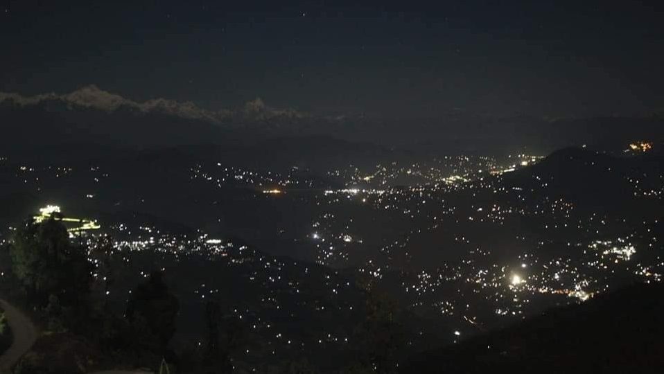 View from Rishop at night