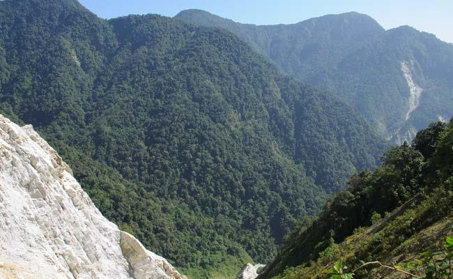 View from Rupam valley, trekking in India
