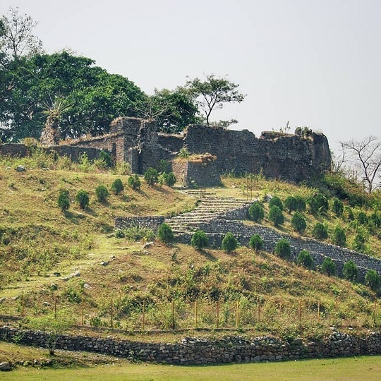 Buxa fort from the village