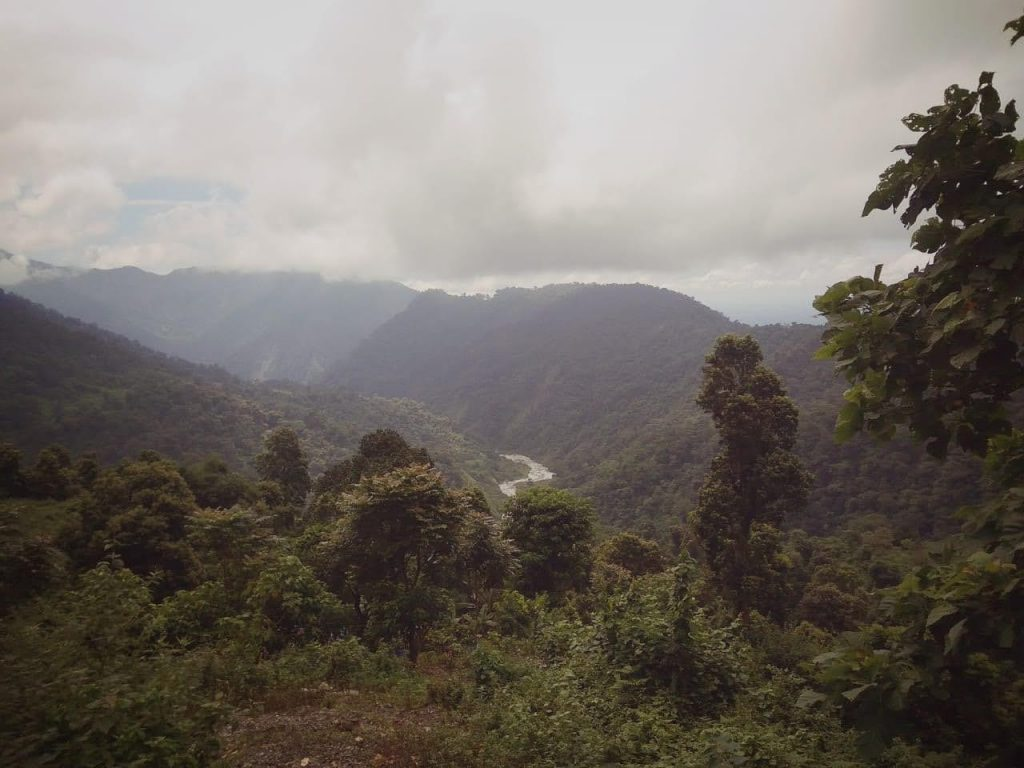 Ochlung trek and view from its homestay, trekking in India