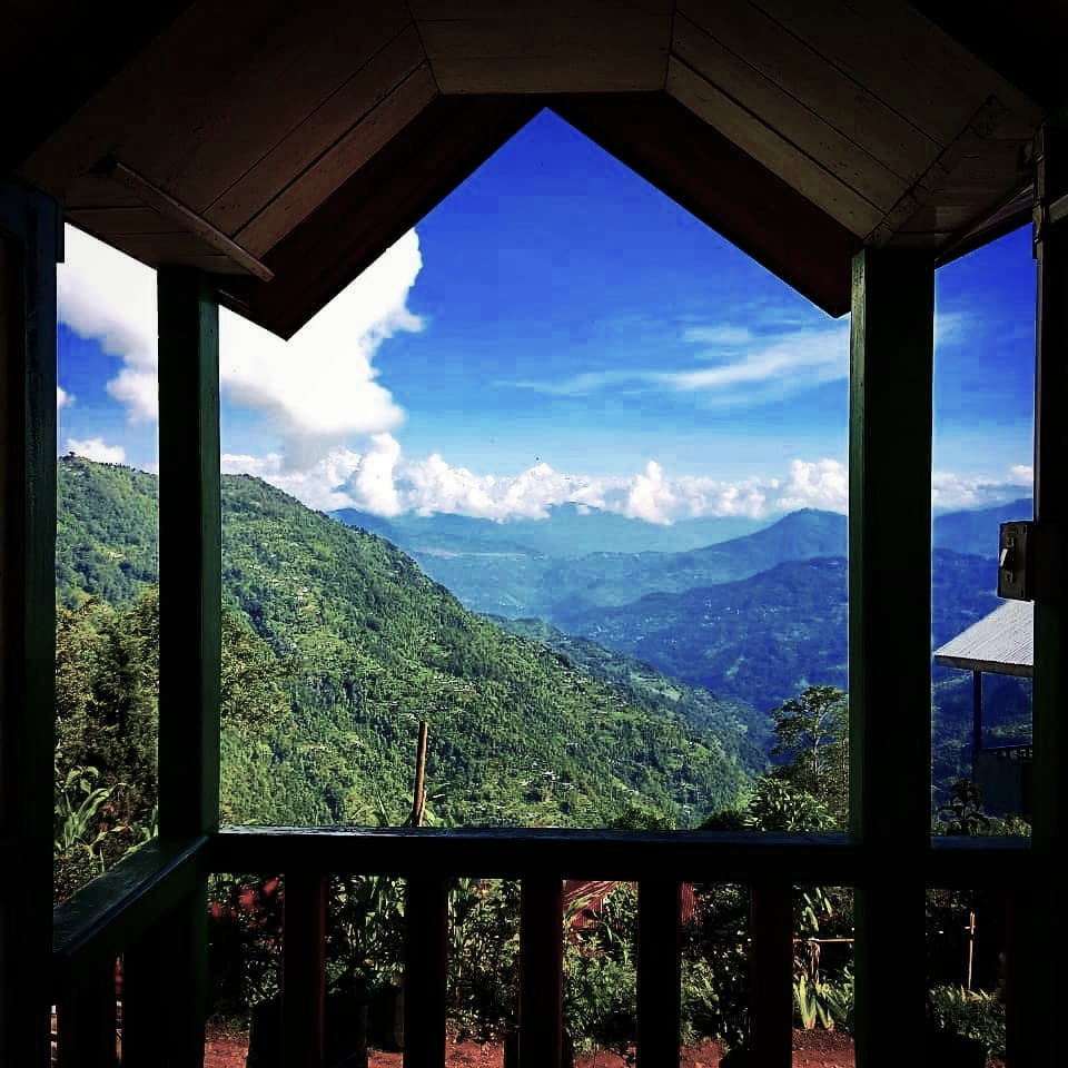 Solo trip view of Himalayas from Jhandi