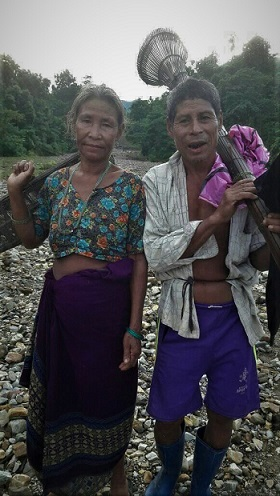 Toto tribe - A toto couple in their traditional wear in Totopara